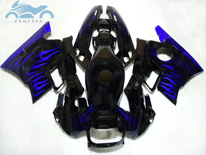 ABS <font><b>plastic</b></font> fairing for <font><b>HONDA</b></font> 1991 1992 1993 1994 <font><b>CBR600</b></font> <font><b>F2</b></font> blue flames road motorcycle body fairings CBR 600 <font><b>F2</b></font> 91-94 image