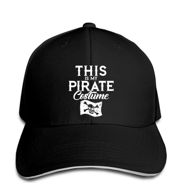 hip hop Baseball caps Funny Men hat cap Black This is my Pirate Costume Easy Halloween Funny cap