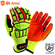 NMAromr Cut Resistant Anti Impact Vibration Oil TPR Safety Work Gloves Anti Cut Proof Shock Mechanics Impact Resistant Gloves nmsafety anti vibration oil safety glove shock absorbing mechanics impact resistant work glove