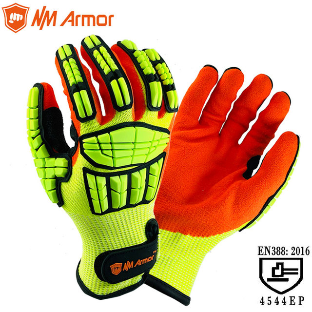 NMAromr Cut Resistant Gloves Anti Impact Vibration Oil TPR Safety Work Gloves Anti Cut Proof Shock Mechanics Impact Resistant