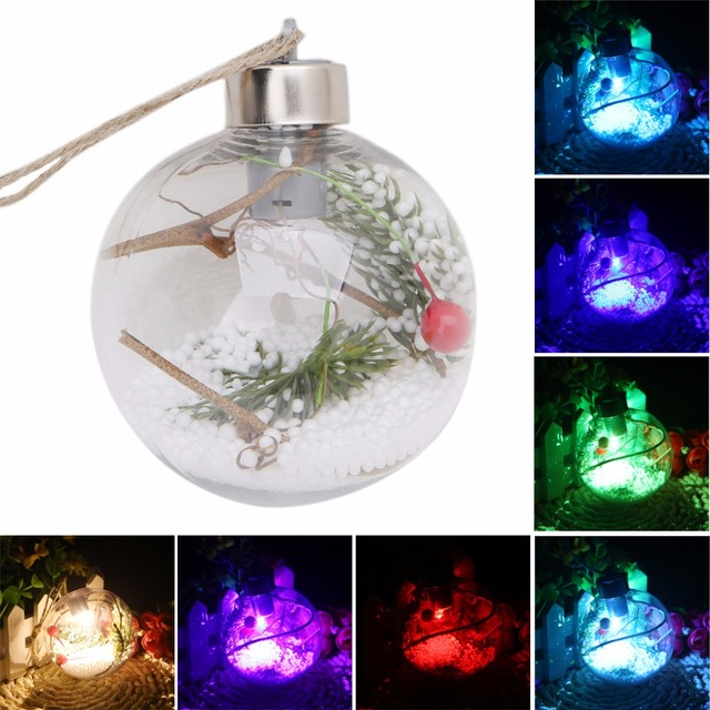 christmas tree led clear ball light lamp hanging ornaments party outdoor decor
