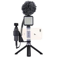Dji suporte de bolso para celular osmo, suporte de montagem e adaptador para microfone, tripé de bolso para osmo pocket
