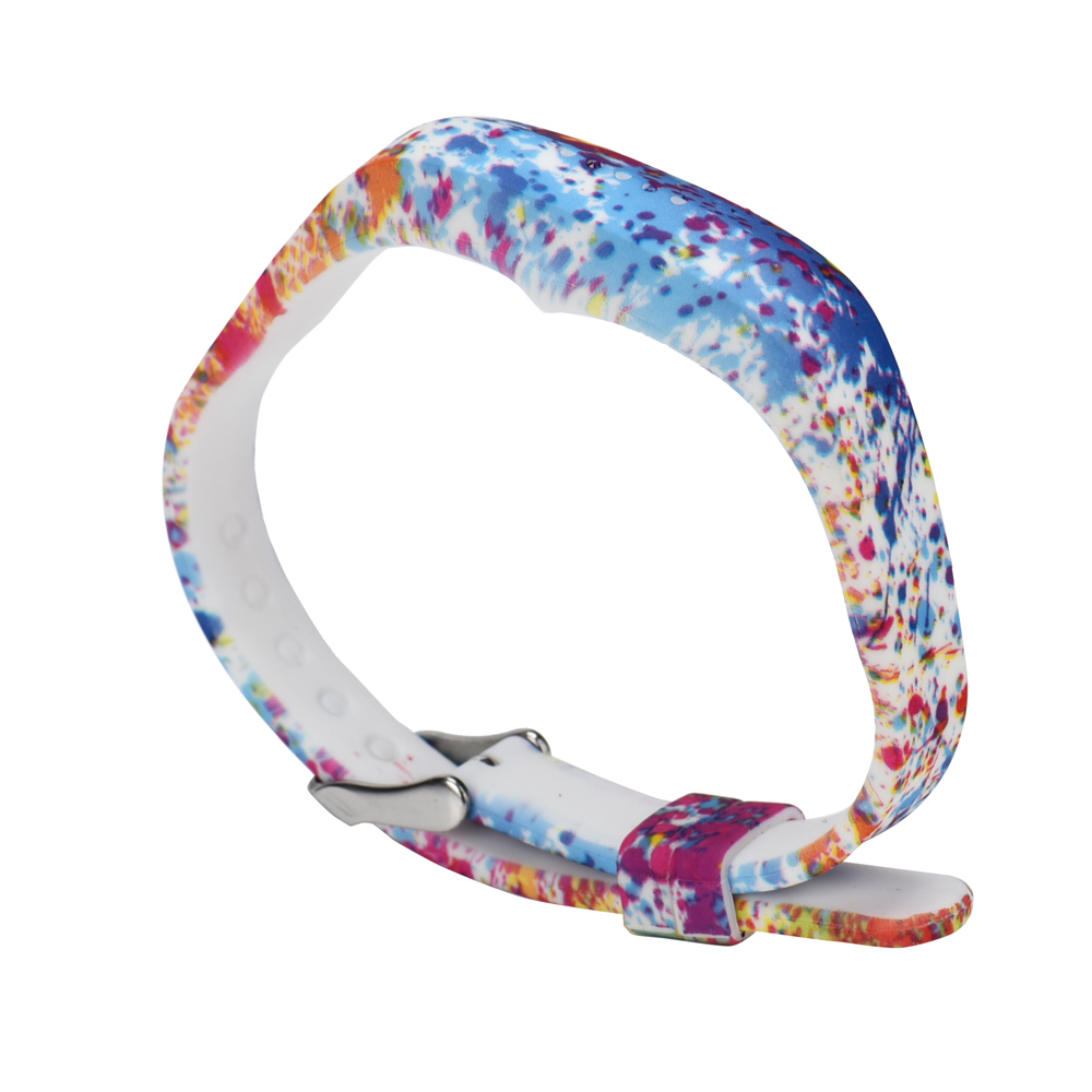 High Quality Silicone Classic Wrist Band Watch Strap for Fitbit Flex 2 Watchbands Bracelet Adjustable Floral Prints watch band in Watchbands from Watches