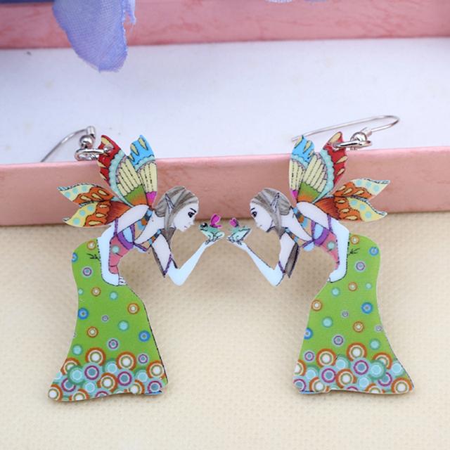 Butterfly Angel Wing Drop Earrings