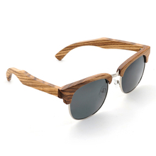 Women's Zebra-stripe Styled Bamboo Sunglasses