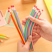3pcs Colorful Magic Soft Bendy Flexible Pencil With Eraser Kids Gift Writing New