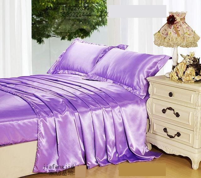 light purple mauve lilac mulberry silk comforter bedding set king size queen solid comforters duvet cover bed sheet bedspread
