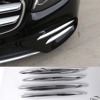 Car Styling ABS Chrome Front Fog Lamp Cover Trim For Mercedes Benz E Class W213 2016