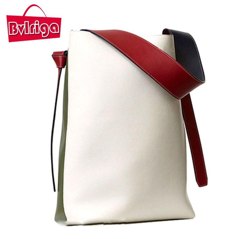 Bvlriga mujeres bolsa de hombro del color del golpe nueva bucket bolsos de compr