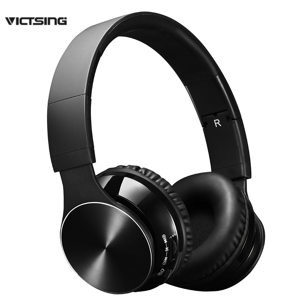 VicTsing Handsfree  Bluetooth Wireless Headset with Mic and Wired Mode, Foldable Over Ear Headphones for PC, Smartphones bluedio t2 wireless bluetooth headset with mic bluetooth headphones support wired mode for android ios phones xiaomi iphone pc