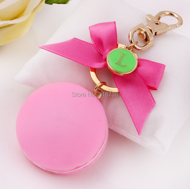New Classic frosted salable Macaron with bowknot sweet macaron keychain bags cars accessories best Valentine Mother day gifts