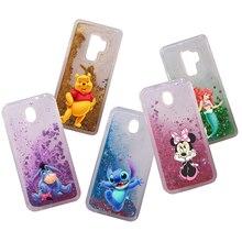 Cute Minnie Stitch Water Liquid Case for Huawei