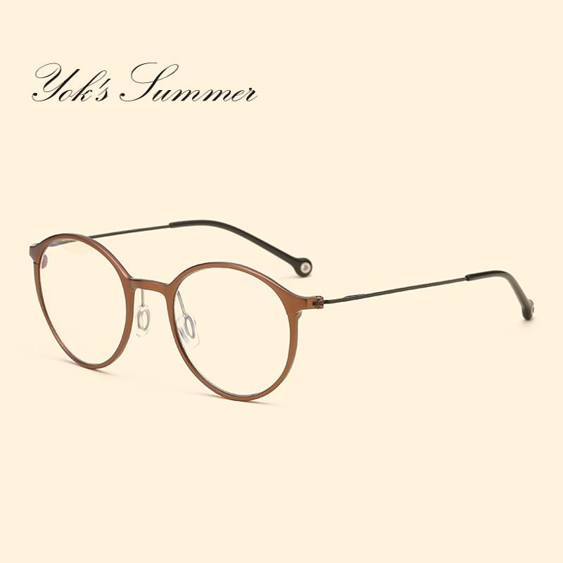 Yok летний корейский Анти Blue Ray компьютер игровой очки Для женщин ретро Алюминий чтения очки, рамка для Для мужчин Óculos HH013