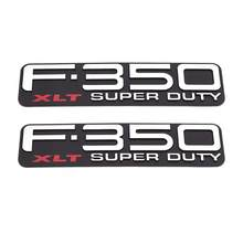 2 pcxabs plástico f350xlt F-350XLT super dever auto adesivos emblemas emblemas emblemas emblemas 3d