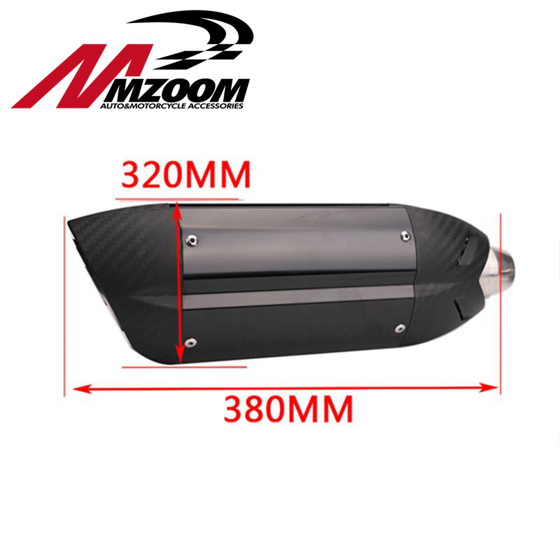 Carbon Fiber 51MM Stainless Steel Back Pressure Motorcycle Exhaust Muffler for Diameter exhaust for MIVV free shipping carbon fiber id 61mm motorcycle exhaust pipe with laser marking exhaust for large displacement motorcycle muffler