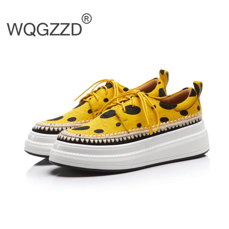 2018 New autumn brand shoes women loafers horse hair flat platfrom shoes comfortable women loafers zapatos mujer