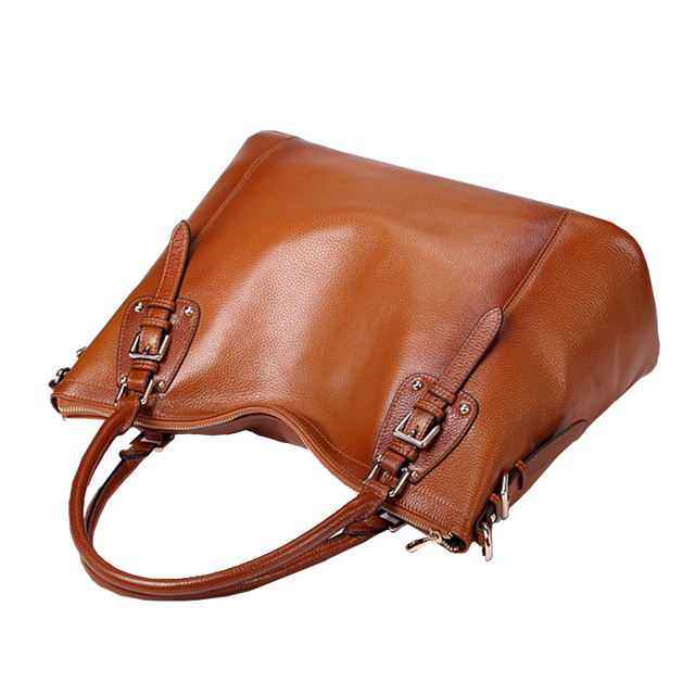 Go Meetting Brand Women Genuine Leather Handbags High Quality Cowhide Women Shoulder Bag Vintage Design Crossbody Messenger Bags
