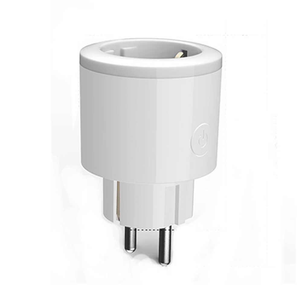 Wifi inteligentna wtyczka Mini Homekit gniazdo ue monitorowanie energii 15A ue inteligentne gniazdo sterowanie głosem współpracuje z amazon alexa Google Home