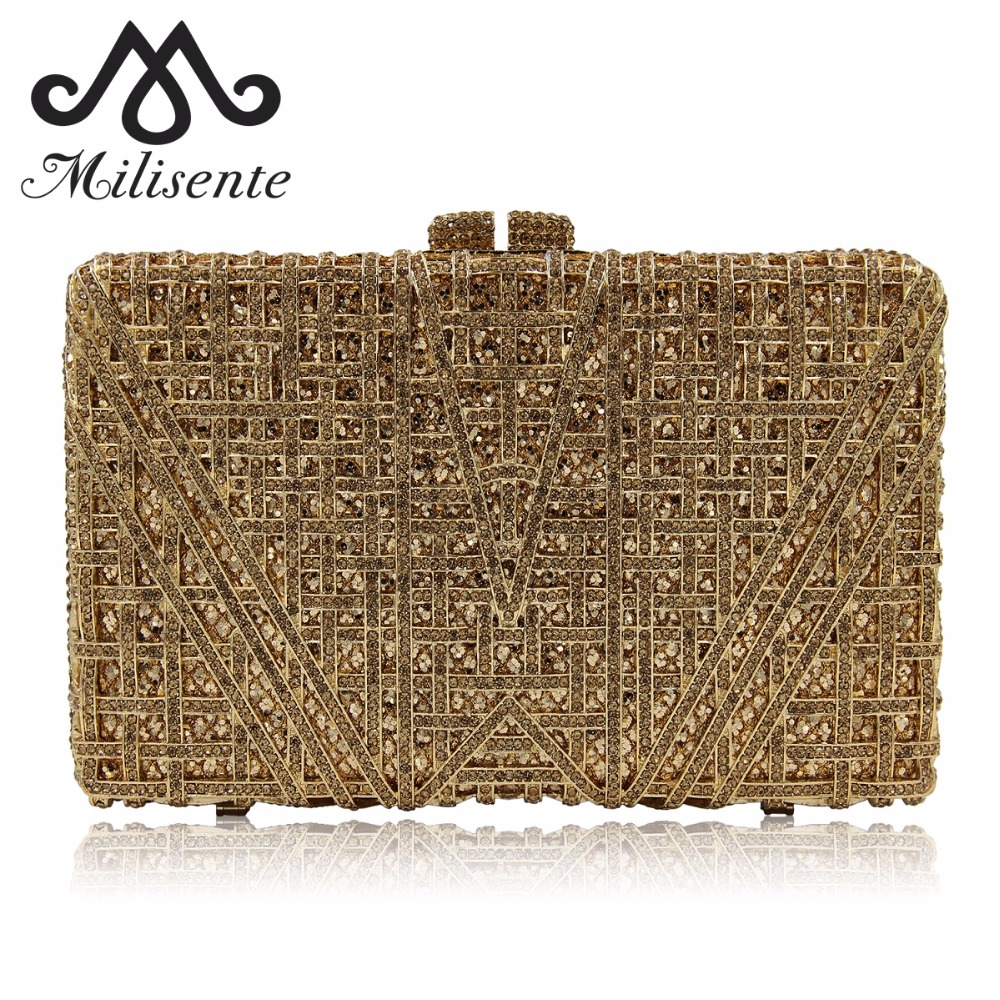 Milisente New Arrival Luxury Crystal Clutches Ladies Wedding Purses With Diamonds Women Evening Bag Party Purse High Quality luxury real new arrival day clutches diamonds flower women bag banquet crystal handbag wedding party handbags night clubs purse