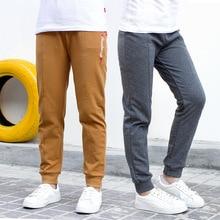 цены на Kids Clothes 2019 new Spring autumn cotton Full Length pants Elastic Waist Kids Pants 5-14 years Baby Boy Clothes  в интернет-магазинах