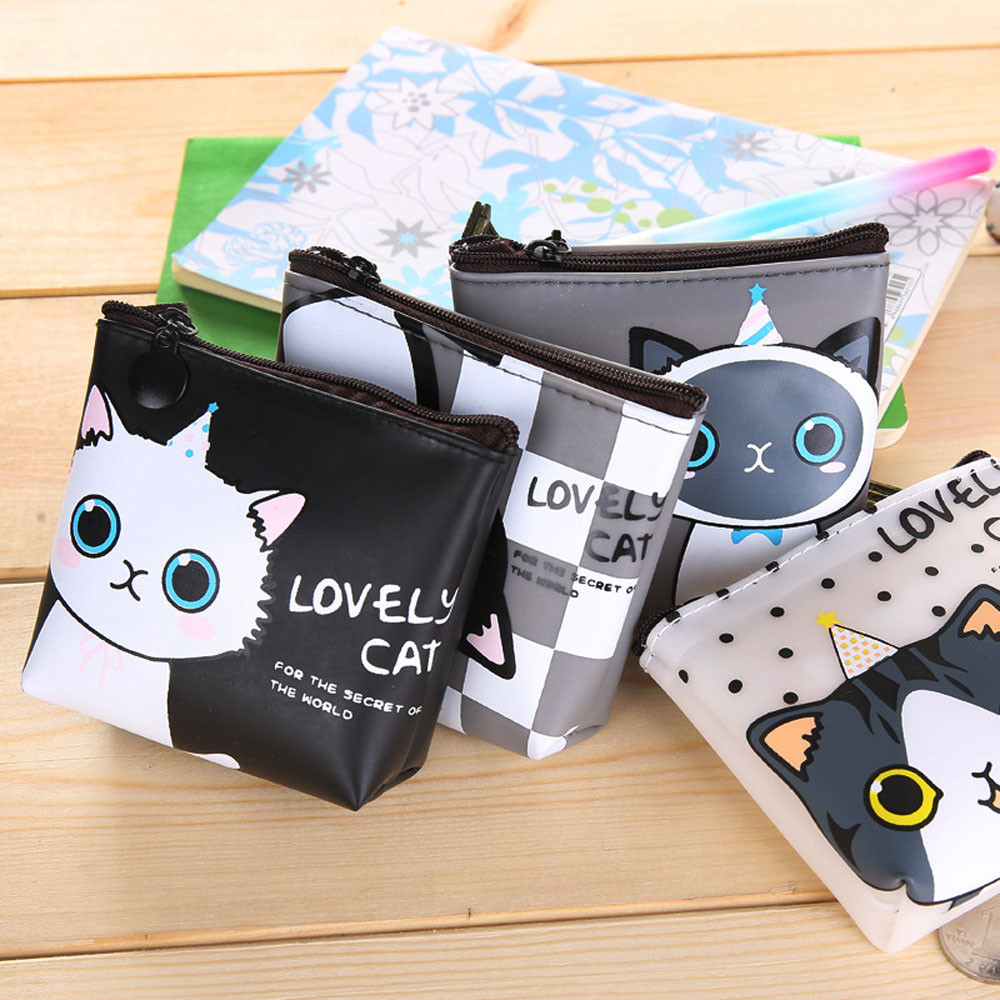 Fashion Hot Girls Cute Funny cat Snacks Coin Purse Wallet Bag Change Pouch Key Holder Change Purse Money Bag Small Pocket 2017 new fashion women owl cute pu leather change purse wallet bag girls coin card money pouch portable purse small bag jan12