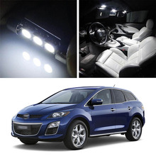 Canbus LED Lamp Interior Map Dome Trunk Plate Light Bulbs For  Mazda CX-7 2007-2012 17pc x perfect canbus error free led lamp interior dome map light kit package for porsche cayman 987 2006 2012