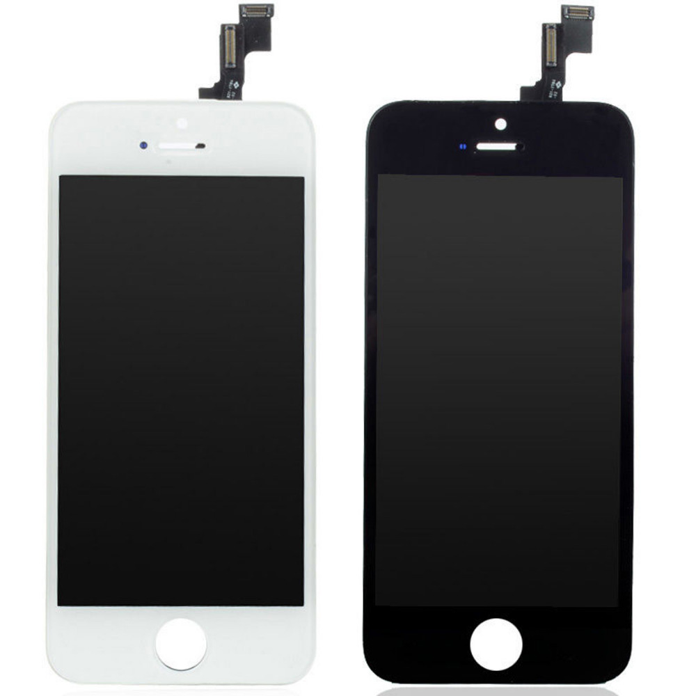 AAA+++ NEW For iPhone 5S LCD Display Touch Screen Digitizer with Bezel Frame Full Assembly Free Shipping+Tracking No WHITE BLACK 1 pcs for iphone 4s lcd display touch screen digitizer glass frame white black color free shipping free tools