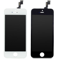 AAA NEW For IPhone 5S LCD Display Touch Screen Digitizer With Bezel Frame Full Assembly Free