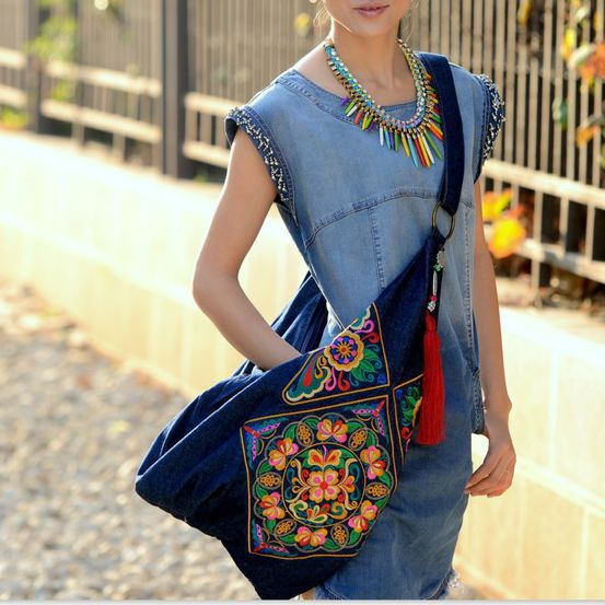 Original Chinese Style Embroidery Embroidered Ethnic Shoulder Messenger Bags Women Travel National Vintage Hobo Bag luxury chinese style women handbag embroidery ethnic summer fashion handmade flowers ladies tote shoulder bags cross body bags