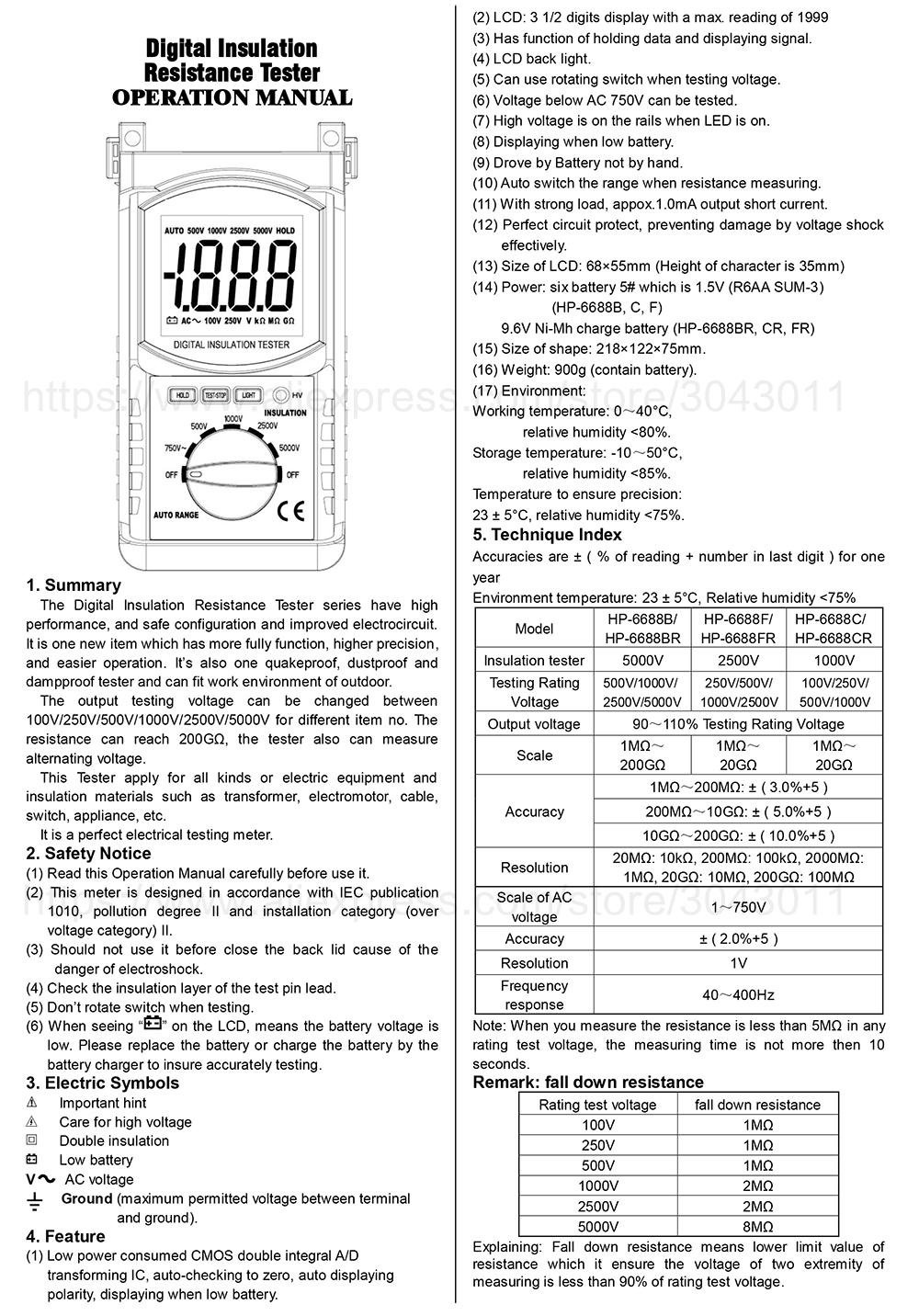 HP-6688B,C,F,BR,CR,FR-1
