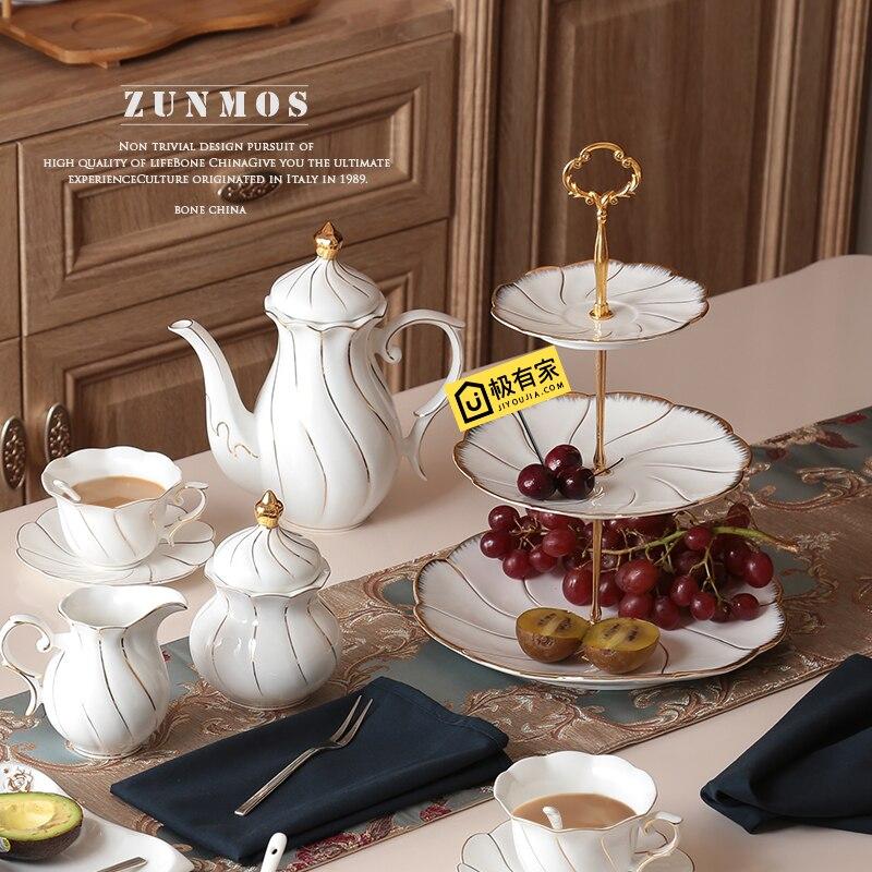Assiettes à desserts de gâteau en or | Incrustation en or assiettes à 2/3 couches, assiettes à vaisselle, plateau en céramique - 3