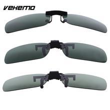 Vehemo Замена темные поляризованные линзы флип клип на солнцезащитные очки для вождения на открытом воздухе