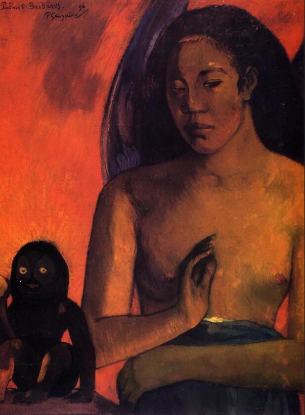 Haute qualité peinture à l'huile toile Reproductions barbares poèmes (1896) de Paul Gauguin peint à la main