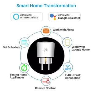 Image 2 - Prise intelligente de WiFi de prise de WiFi de lue 16A avec le contrôle dappli de synchronisation, Mini commande intelligente de voix de maison dalexa Google Compatible