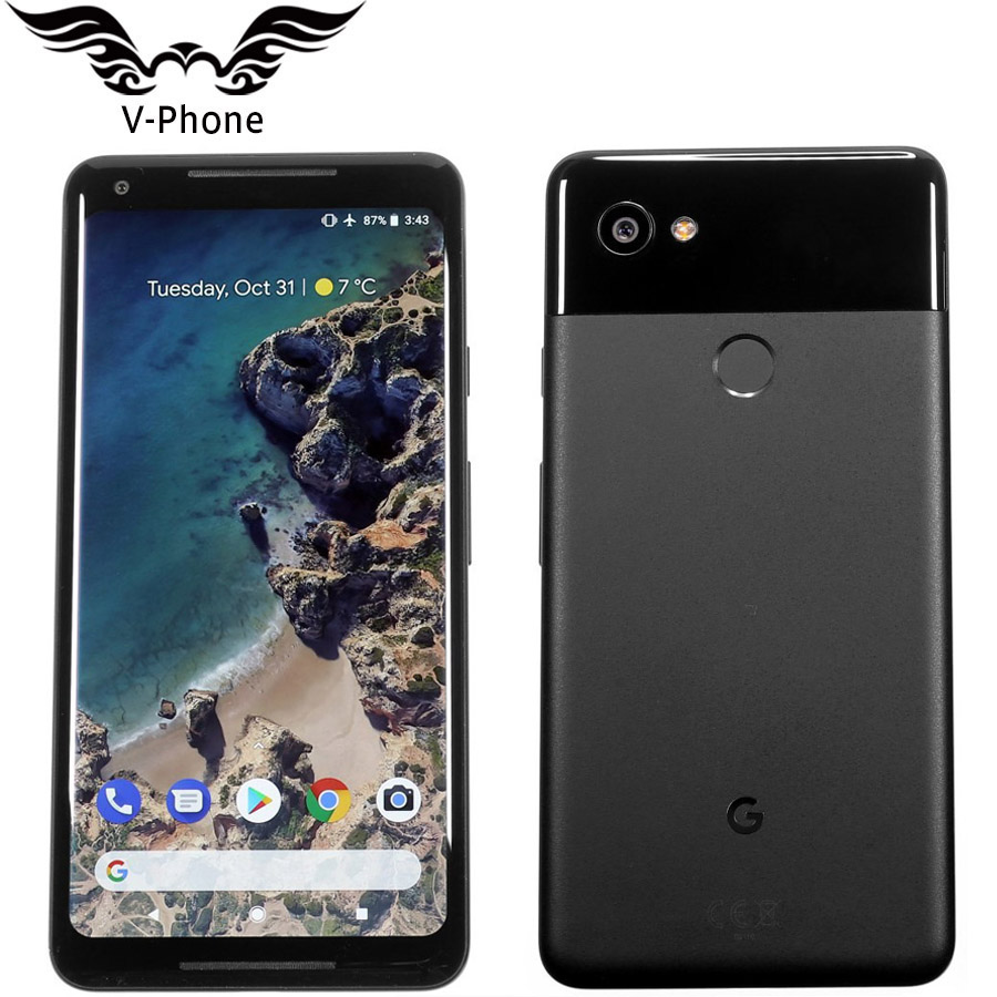 ЕС Версия Google Pixel 2 XL 6,0 ''Octa Core одной сим 4G LTE Оригинальный Новый Android телефон 4G B Оперативная память 6 4G B 128 ГБ Встроенная память ЕС смартфон