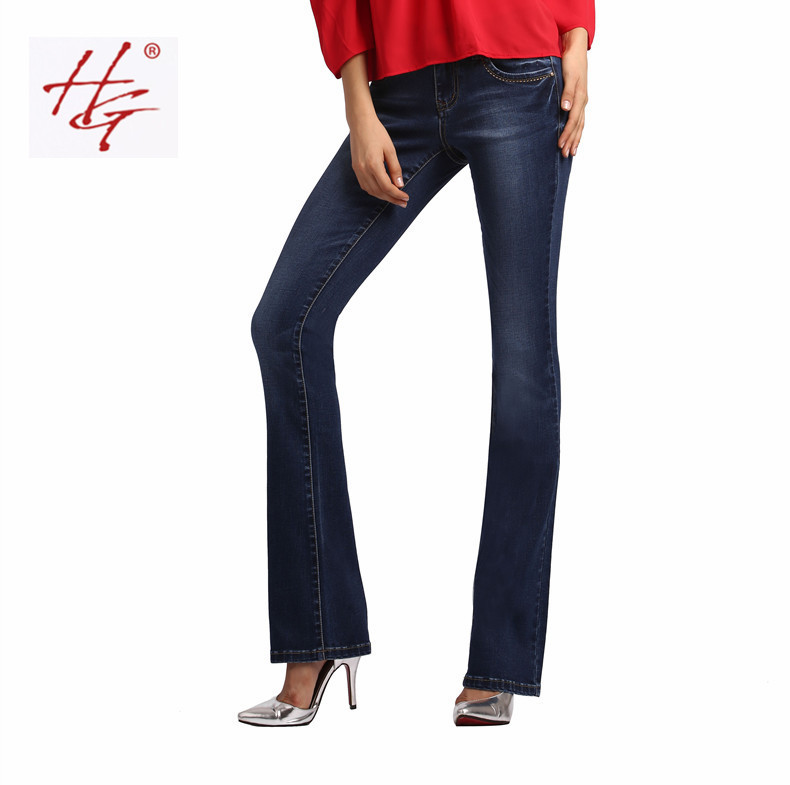 W03 HG brand women flare jeans retro stys