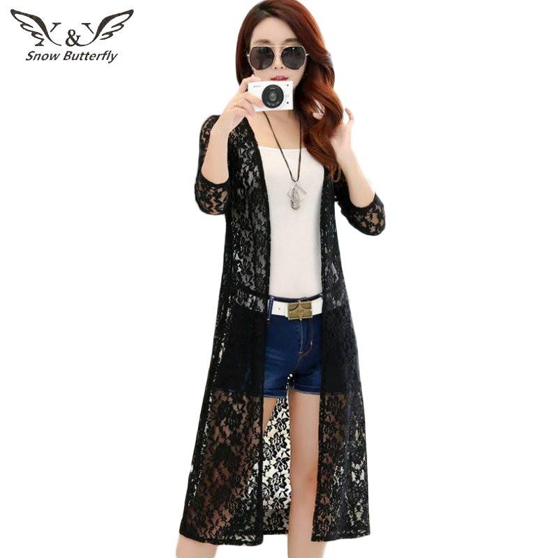 Women's Clothing 2019 Womens Clothing Lace Sun Protection Clothing Female Long Summer Shirt Korean-style Shawl Coat Thin Cardigan Blouse 114
