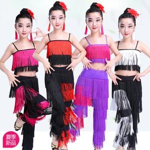 Image 1 - Songyuexia filles jupe de danse latine vêtements de performance vêtements dexamen de qualité Cha Liusu jupe de danse pour enfants
