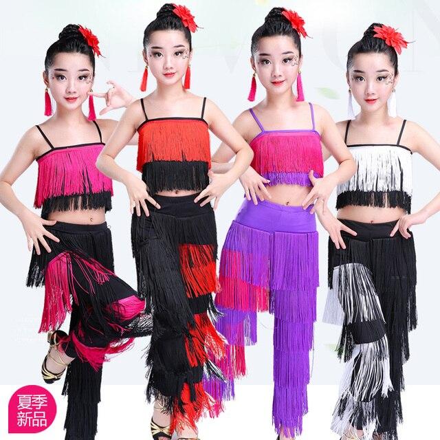 Songyuexia filles jupe de danse latine vêtements de performance vêtements dexamen de qualité Cha Liusu jupe de danse pour enfants