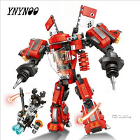 Ninja Kai Fire Mech Super Heroes Stark Armor Iron Man Civil War Armor Building Block Brick