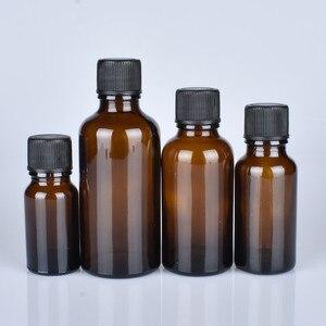 Image 3 - 6 pcs/lot 100 ml 50 m 30 ml 20 ml 15 ml 10 ml 5 ml 1/3 oz 1 oz bouteilles en verre dhuile essentielle ambre épaisse avec des récipients en verre à capuchon noir