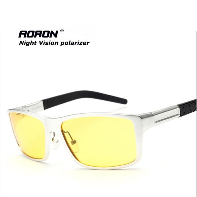 Желтый солнцезащитные очки ночного видения для вождения автомобиля спорт UV400 известный бренд мужчины драйвер поляризатор очки