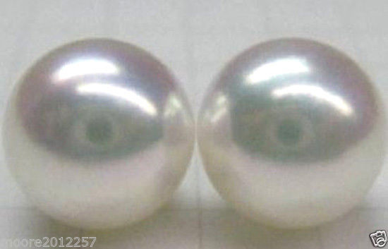 Buy HUGE AAA 11-12MM ROUND REAL SOUTH SEA WHITE PEARL EARRING good STUD