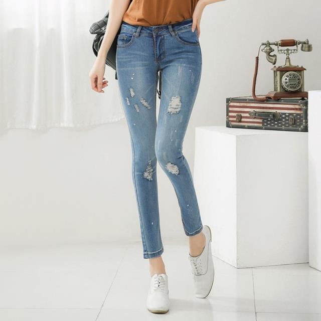 Nueva Rasgado Mujer Vaqueros Pantalones De Mezclilla Skinny Jeans Con Agujeros Pantalones Lapiz Stretch Lady Jeans Mujer Pantalones Casuales Capris Jeans Jeans Jeans Shop Jeans Tjean Jackson Aliexpress