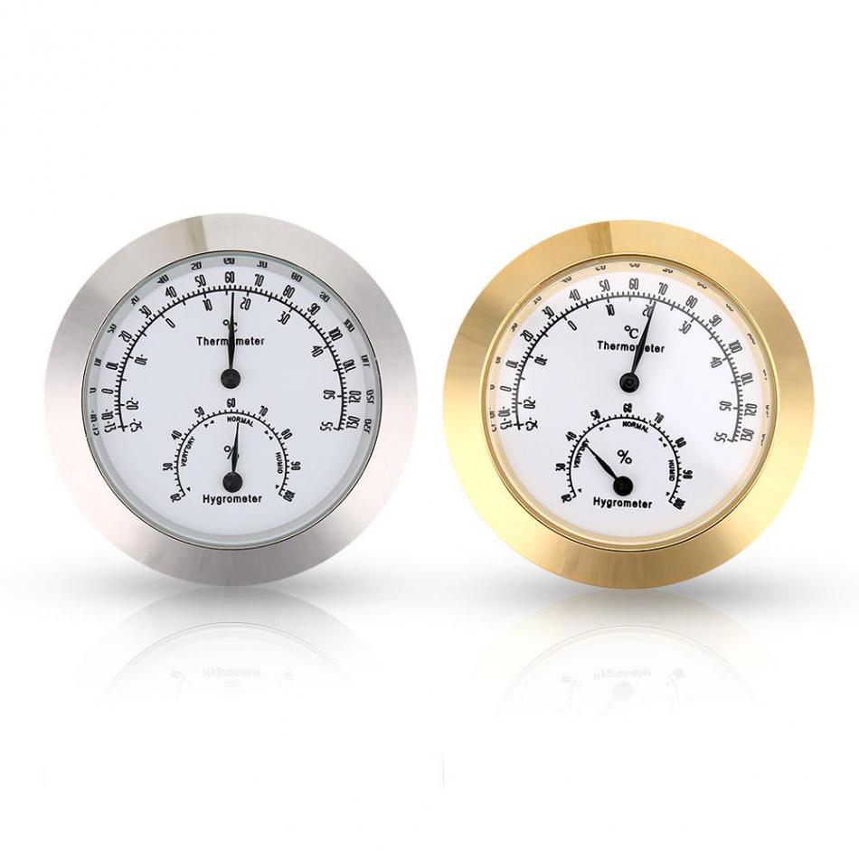 Analysatoren Universal Indoor Freien Nass Hygrometer Feuchtigkeit Thermometer Temp Temperatur Meter Gelb Mechanische Thermometer