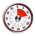 Магнитный кухонный таймер, механический кухонный будильник из нержавеющей стали круглой формы, обратный отсчет