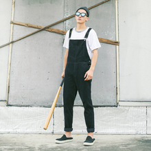 Men's Bib Overalls Male Casual Washed Corduroy Trousers Slim Jumpsuits High Street Fashion Hiphop Fashion Pant