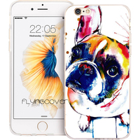 Coque Capa French Bulldog Transparent Soft TPU Silicone Phone Cover For IPhone 7 7Plus Case For