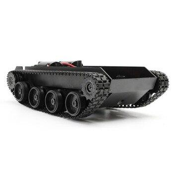 3-7V Smart Tank Roboter Chassis Spielzeug Kit Leichte Stoßdämpfer Für Arduino 130 Motor Tank Auto Chassis Crawler Ersatz Teil