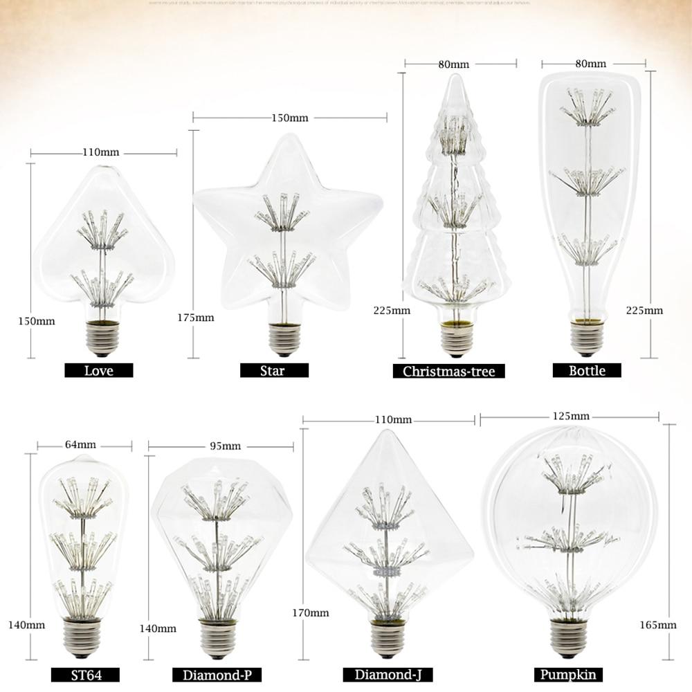 E27 LED Glühlampe ST64 Bunte Starry Sky Feuerwerk Lampe 220 V 2-8 W Globus Lampada Glühbirnen für Home Party Decor